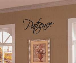 Patience Vinyl Wall Sticker Art Decor Decal Lettering Quote Religious