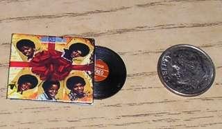 Dollhouse Miniature RECORD ALBUM JACKSON 5 CHRISTMAS