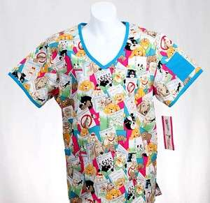 PET CARE Missy Top L LARGE Nursing Nurse Scrubs   NEW