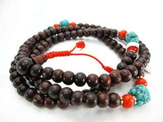 Tibetan Buddhist Mala 108 Sandalwood Nepal prayer beans