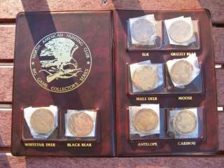 NORTH AMERICAN HUNTING CLUB BIG GAME COLLECTORS COINS |