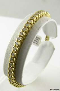 80 CTW DIAMOND Tennis BRACELET   14K Yellow Gold