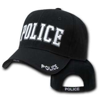 Black Police Officer Law Enforcement Cop Costume Baseball Ball Cap Hat
