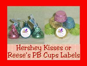 Senior Citizen Party Favor Candy Kiss Kisses Labels Personalized