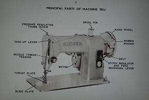 Singer 185 J Sewing Machine Instruction Manual On CD