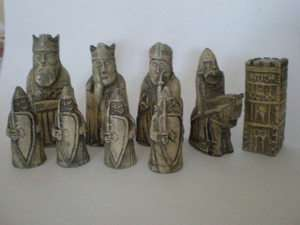 Miniture Isle of Lewis Fantasy Model Resin Chess Set