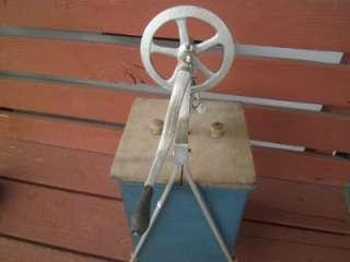 1800s TIN POWDER BLUE BUTTER CHURN CREAM DAIRY SALESMAN SAMPLE