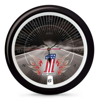 Harley Davidson #1 Sound Wall Clock 13