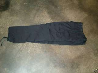 GI SMALL SHORT BLACK BDU PANTS CARGO TROUSERS NYCO NEW |