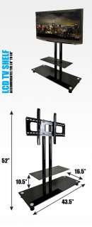 Plasma LCD Flat Panel Console Shelf Wall Mount TV Stand