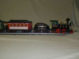 JIM BEAM, TRAIN DECANTER, 6 PC TRAIN SET WITH TRACK, 5 SEALED, GREAT