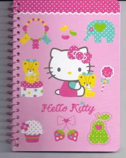 Sanrio Hello Kitty Spiral Notebook Animals Dots