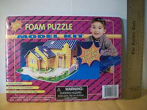 NEW House Foam Puzzle CRAFT Model Kit KIDS 3D Building Activity TOY