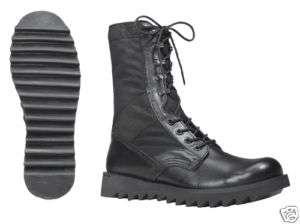 BLACK RIPPLE SOLE JUNGLE BOOTS BLACK SUPER COMFY REGLRS 613902505032