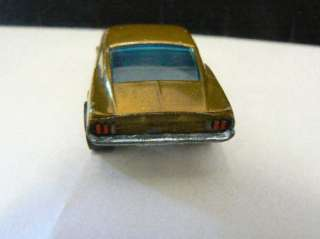 1967 Hot Wheels Redline Custom Mustang Metallic Gold Near Mint USA