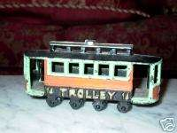 Cast Iron Trolley Car