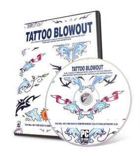 TATTOO FLASH BLOWOUT 1000s Designs Tribal Art On CD