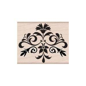 Elegant Brocade Wood Mounted Rubber Stamp (F5243) Arts