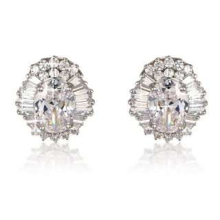 swarovski clear crystal studded earrings crystal encrusted in a bed