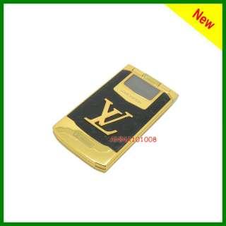 New Unlocked luxury gold Flip mobile phone dual SIM V88
