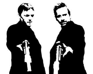 The Boondock Saints guns Tshirt White S XXL