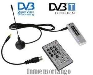 DECODER DIGITALE TERRESTRE USB DVB T RICEVITORE PC HDTV