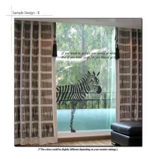 ZEBRA & LETTERINGS WALL DECALS STICKERS REMOVABLE VINYL