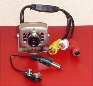 VidéoSurveillance Mini Caméra Couleur Audio + Alim