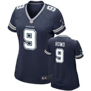 Tony Romo Womens Jersey Home Navy Game Replica #9 Nike Dallas Cowboys