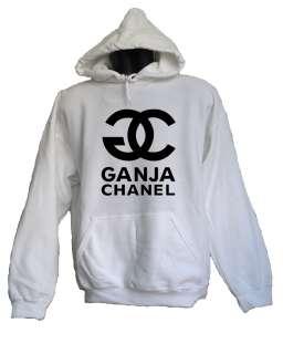 FELPA CON CAPPUCCIO Bianca GANJA CHAN&L S M L Entics T shirt CLUB
