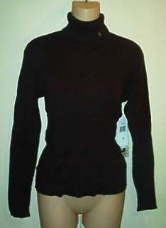 Ralph Lauren NWT Brown Ribbed Turtleneck Sweater M