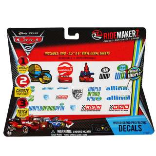 Disney Pixar Cars 2 World Grand Prix Racing Decals   RIDEMAKERZ
