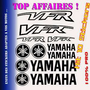 Kit 10 Stickers YAMAHA 750 800 VFR Vtec Decal   YAVF01