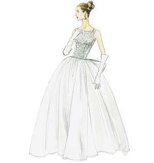 V 8729 Patron couture Robe soirée mariée retro vintage