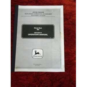 : John Deere Mower Deck 48C OEM OEM Owners Manual: John Deere: Books