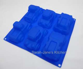 BLUE 4x4 PICKUP TRUCK HOT ROD CAR Silicone Cake Mould Soap Candle