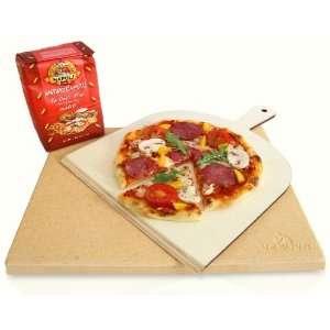 Pizzastein / Brotbackstein Set für Backofen inkl. Zubehör