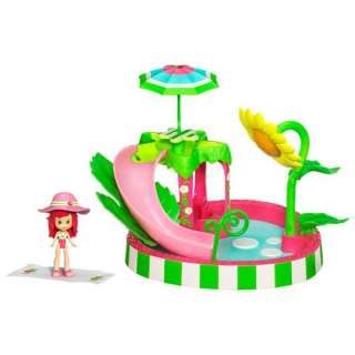 STRAWBERRY SHORTCAKE SPLASHIN PETAL POOL PLAYSET & SCENTED DOLL FIGURE
