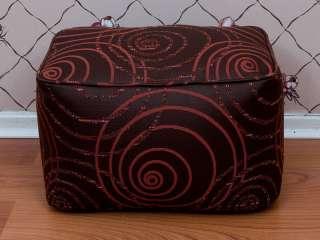 Dark Maroon Retro Swirl Chenille Upholstery Curtain Fabric P/M