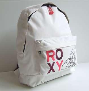 Roxy Cream Womens Girls Backpack Rucksack School Bag   New