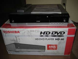Toshiba HD A1 HD DVD Player + remote + Manual in Box