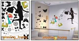 Fashion&Pretty Girl Wallpaper Wall Stickers Room Decor