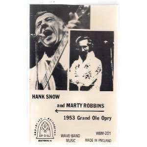 Hank Snow and Marty Robbins ~ 1953 Grand Ole Opry, Import