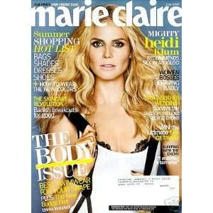 Marie Claire Magazine, June 2008; Heidi Klum (Summer Shopping Hot List
