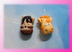 M2MG Savannah Animal Polymer Clay Beads by BY
