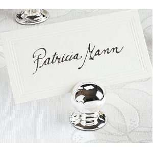 Silver Sphere Place Card Holder 10 Piece Set for Wedding