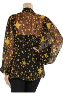 Dolce & Gabbana Star print silk chiffon blouse   50% Off Now at THE