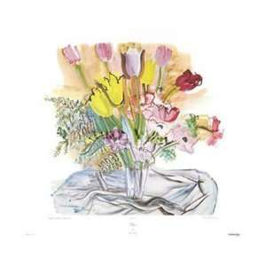 Tulipes by Raoul Dufy 29x23 Kitchen & Dining