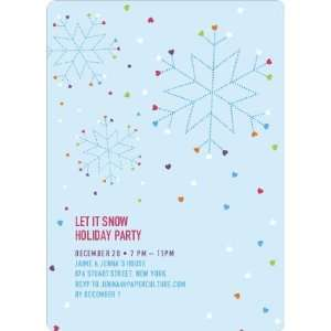 Snow Love Holiday Party Invitations Health & Personal