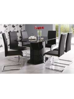 Jet High Gloss Table + 6 Chair Package Deal Very.co.uk